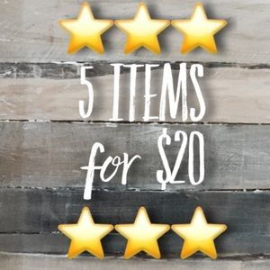 ⭐️5 for $20!⭐️